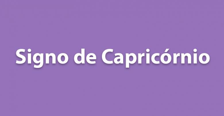 SIGNO DE CAPRICÓRNIO HOJE