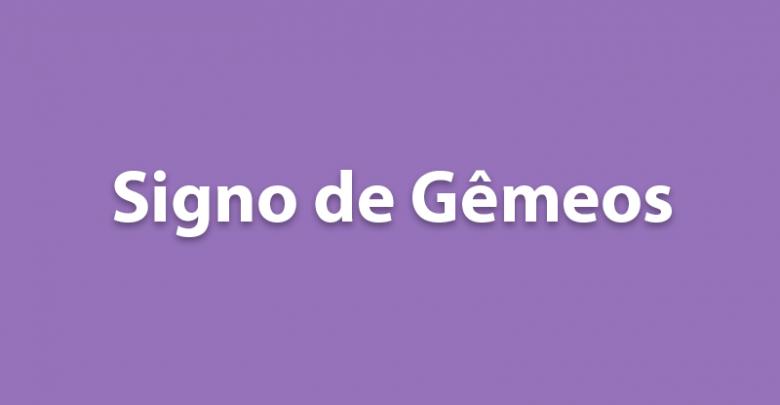 SIGNO DE GÊMEOS HOJE