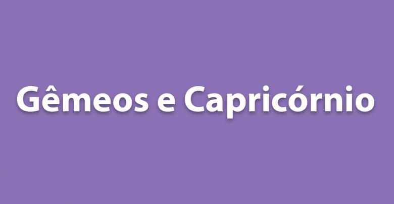 Gêmeos e Capricórnio - Tudo sobre a relação desses signos