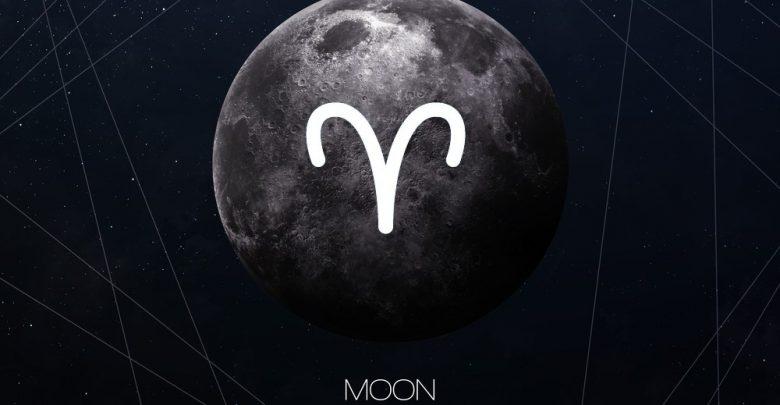 características da lua em áries